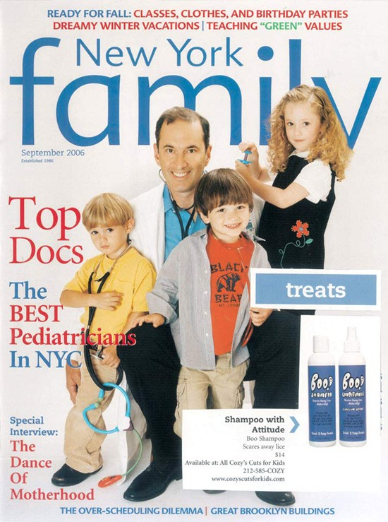 New York Family - New York Family features BOO! Shampoo and Conditioner Leave-in Spray, natural lice repellant.
