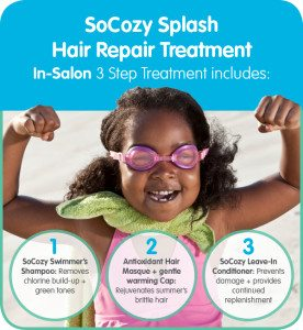 Splash hair treatment